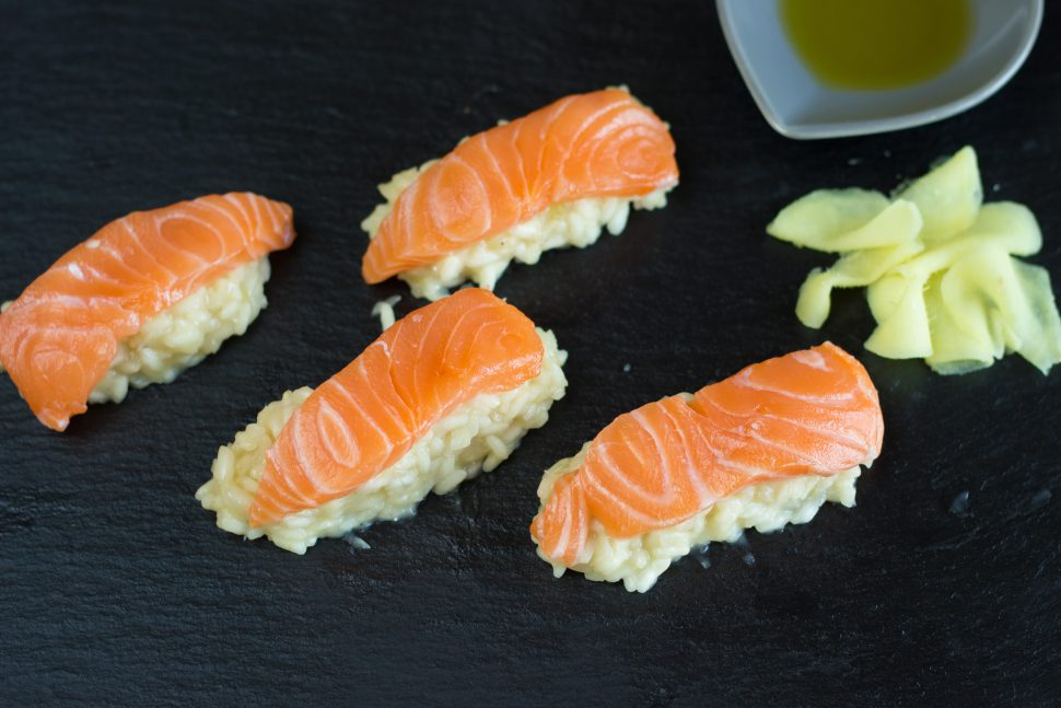 Asien trifft auf Europa: Sushi-Risotto