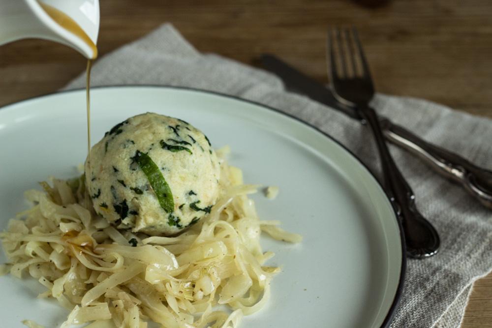 Bärlauchknödel mit Butterkraut