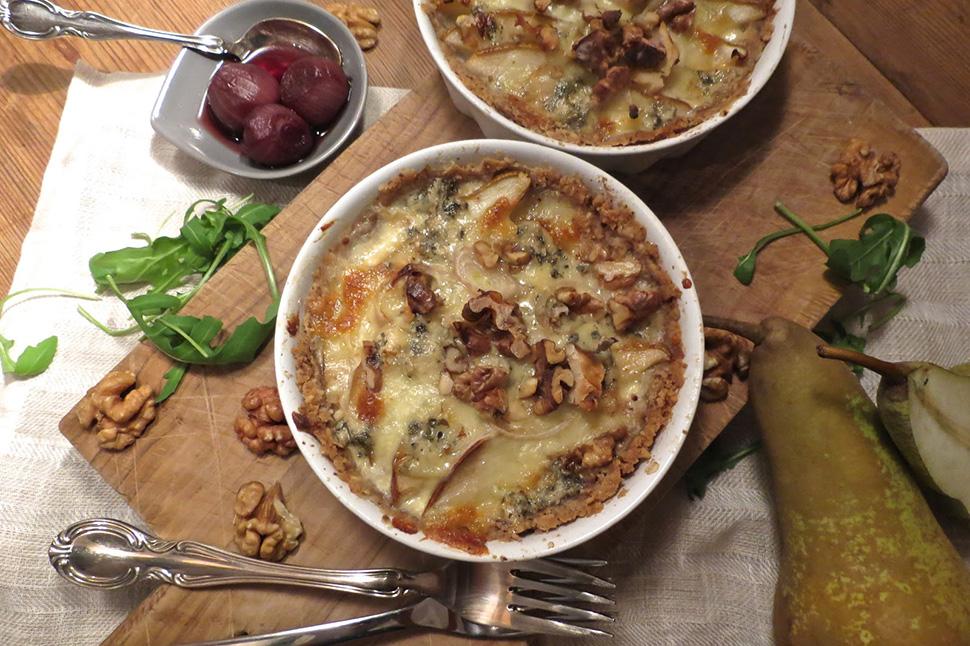 Birne | Gorgonzola | Walnuss | Rotweinschalotten