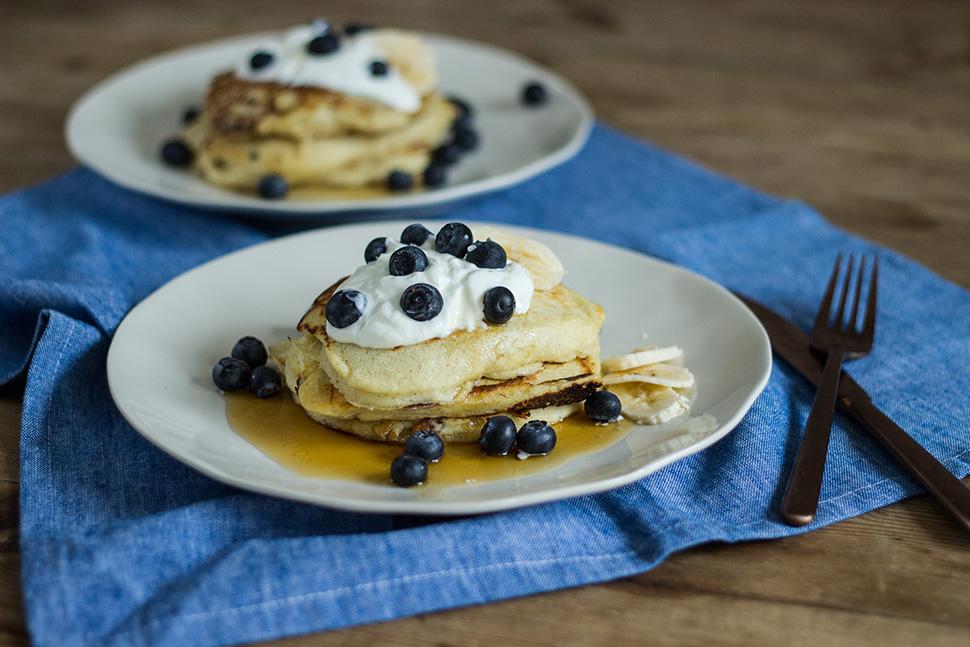 Bananen-Topfen-Pancakes
